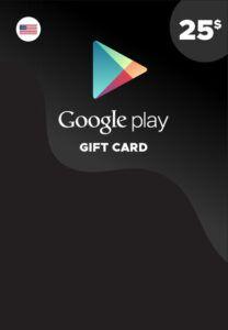 Tarjeta Google Play 25 dólares USA
