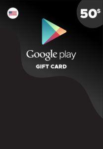 Tarjeta Google Play 50 dólares USA