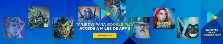 Tarjetas Google Play USA