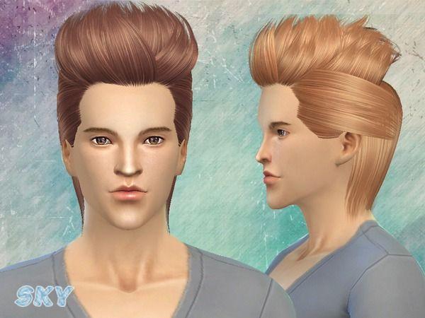 peinado chicos pelo sims 4
