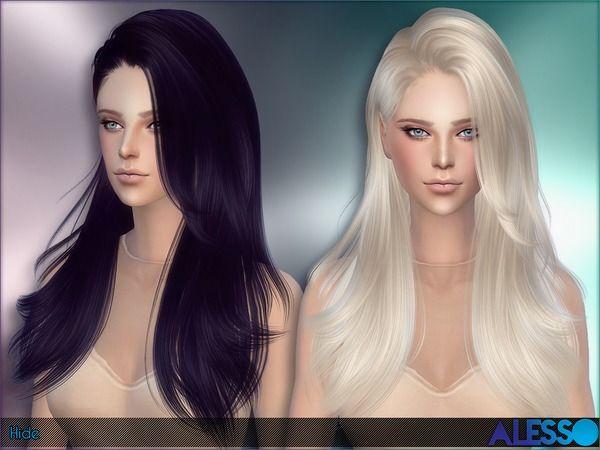 pelo chicas peinado sims 4