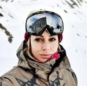 Foto de Blanca Suárez en la nieve