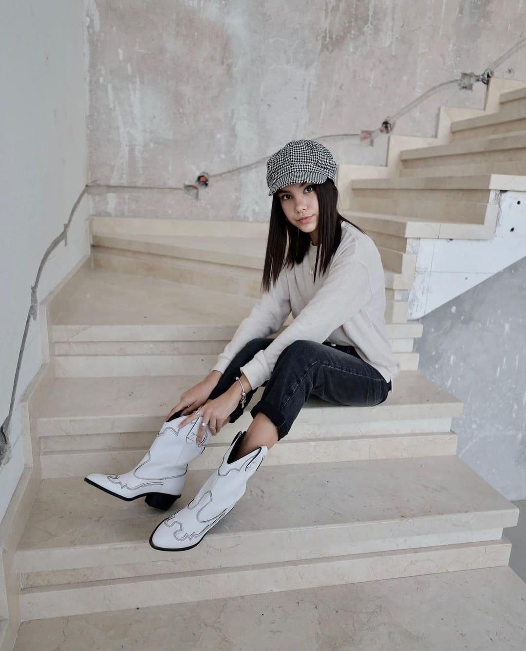 Foto de TV Ana Emilia con botas