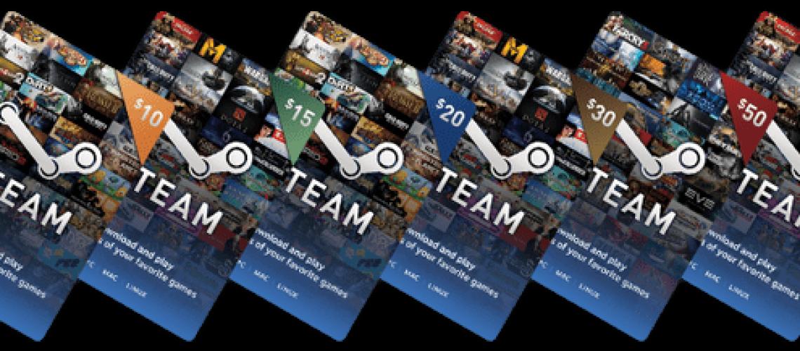steam wallet cards